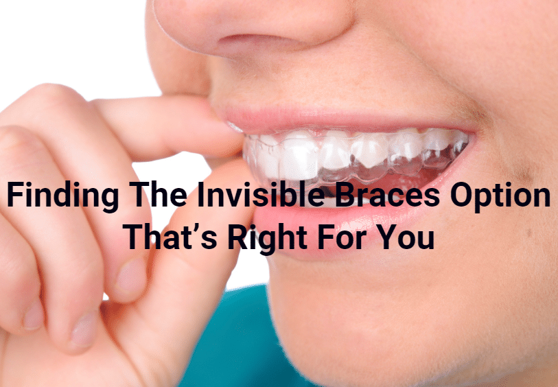 Invisible dental braces
