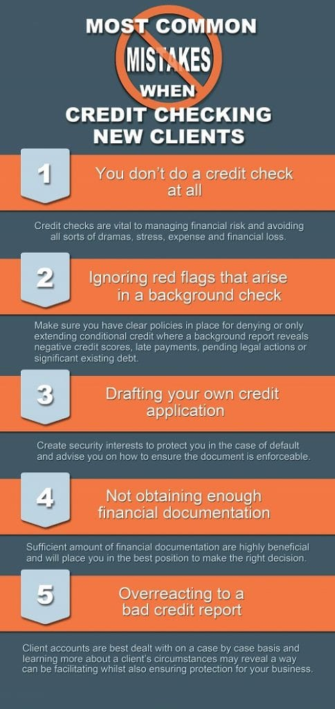 common mistakes made during new client credit checking