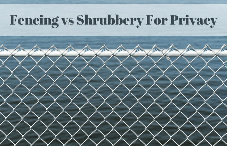 Fencing vs Shrubbery For Privacy