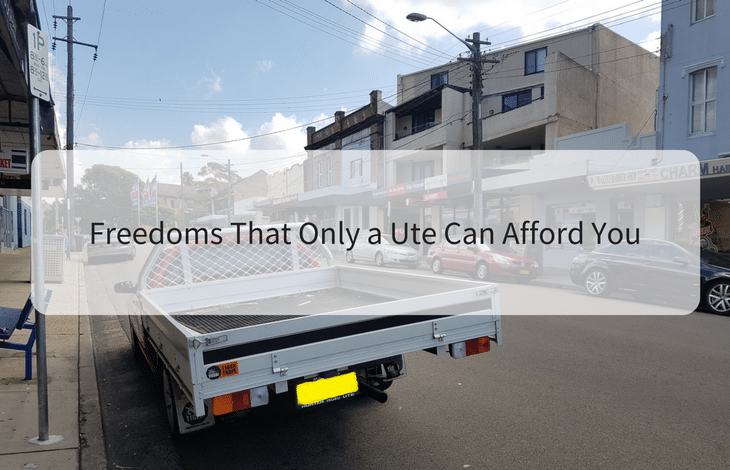 Freedoms That Only a Ute Can Afford You