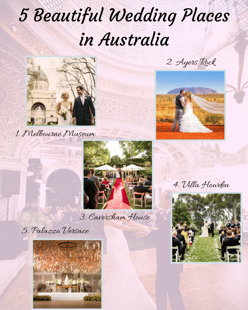 5 Beautiful Wedding Places in Australia