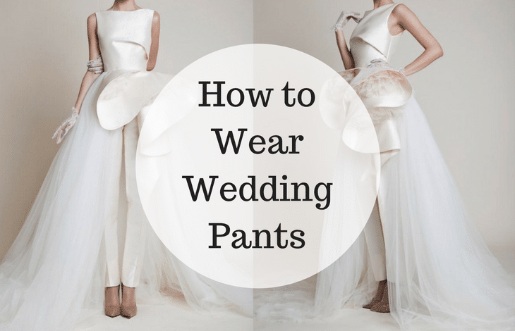 How to Wear Wedding Pants