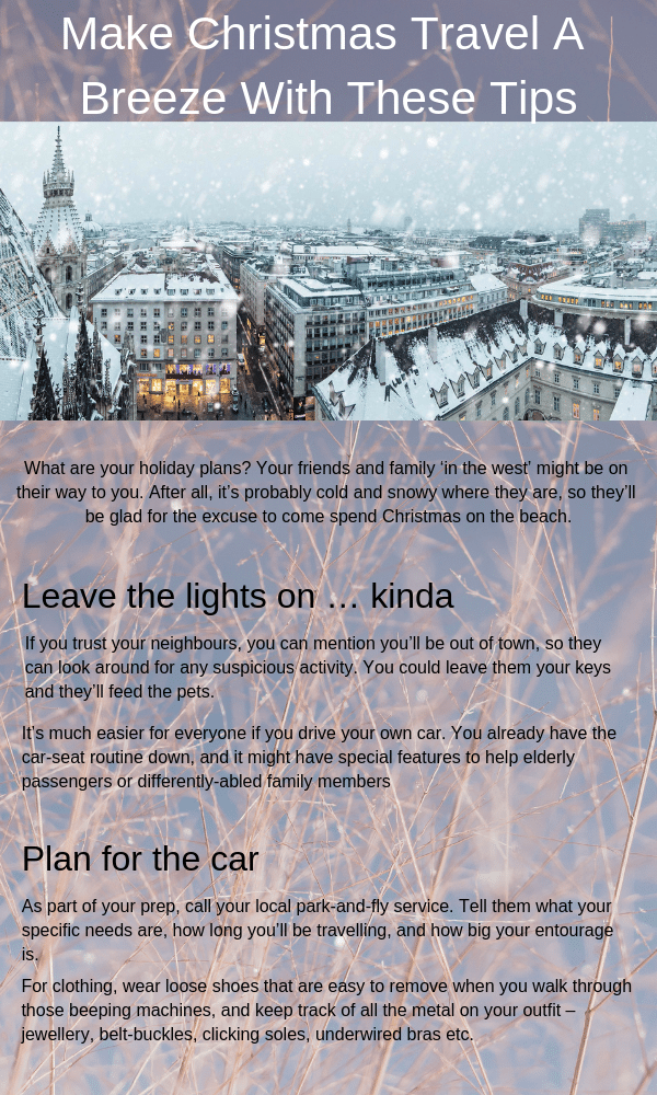 Make Christmas Travel A Breeze With These Parking Tips