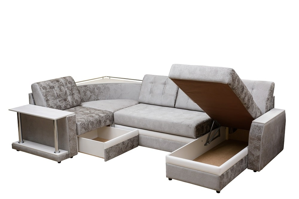 Multifunctional furniture lounge with extra storage option